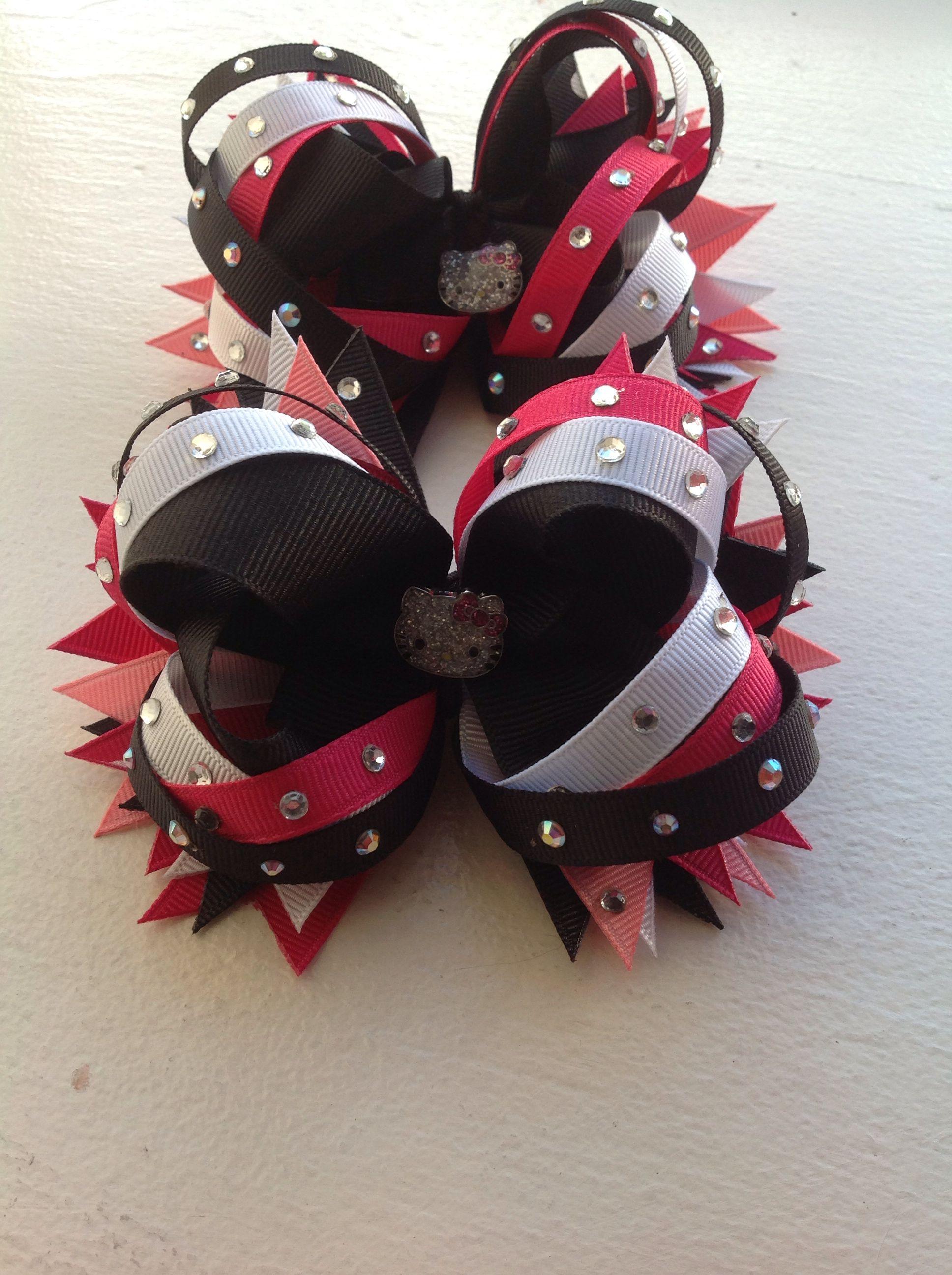 Hello kitty bow set likes pinterest hello kitty and hair bow