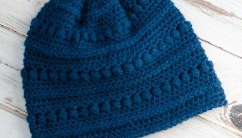 Crochet Houndstooth Hat | Crochet beanie pattern, Crochet ...