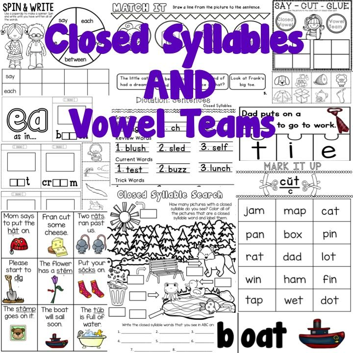 Level 1 Unit 9 Closed Syllables And Vowel Teams TPT Deals