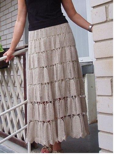 Crochet Skirt, Юбка Крючком,