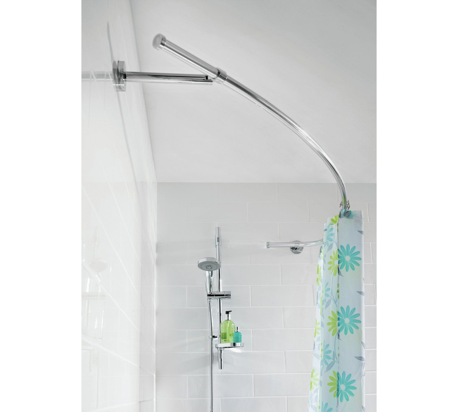 Buy Croydex Lux Curved Shower Curtain Rod