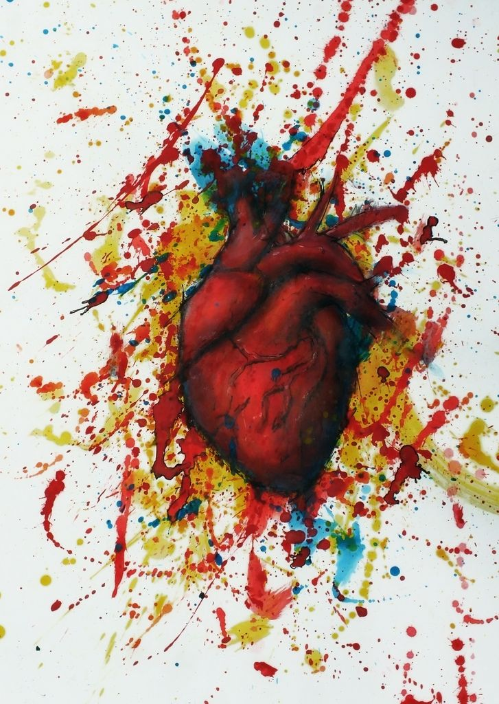 Image Gallery human heart painting