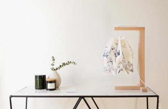 Photo of Origami Lamp | Table Lamp with Wooden Structure | ENDANGERED Collection
