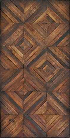 fine polished veneer in a diamond pattern brings the charm of wood flooring to the wall