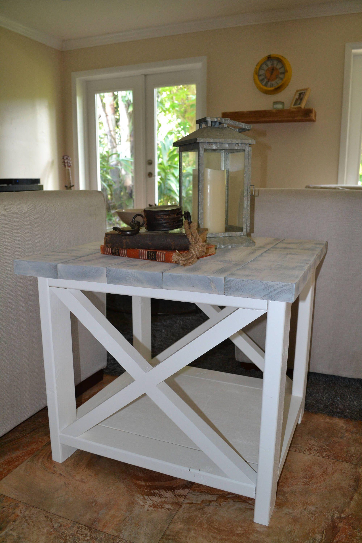 Custom rustic farmhouse end table farmhouse end tables