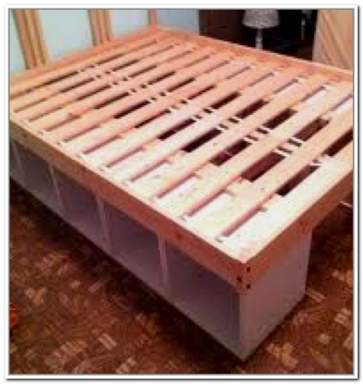 Fun Wood Projects Bed Frame Idea Pinterest Bed Storage Bed