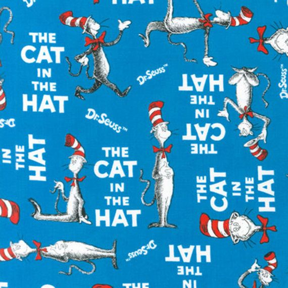 Celebration Dr. Seuss The Cat in the Hat All Over # ADE10796203  From Robert Kaufman By Dr. Seuss Enterprises The Cat in the Hat by Dr. Seuss Enterprises Collection In Licensed Products DESCRIPTION 100% Cotton, 44/45in Thanks
