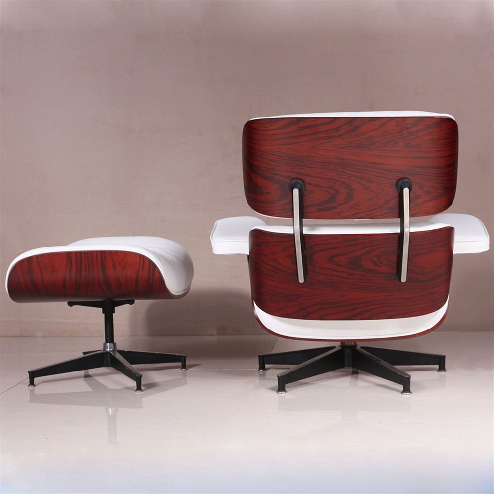 Incredible Eames Lounge Chair And Ottoman 100 Genuine Leather White Uwap Interior Chair Design Uwaporg
