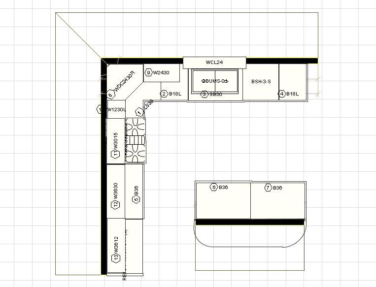 Medium image of 12 x 12 kitchen layouts with floating island   click on any of the 12 u0027