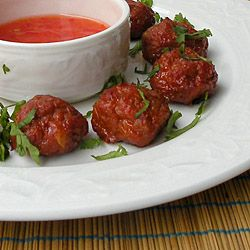 Caramelized Meatballs with Sweet Ch