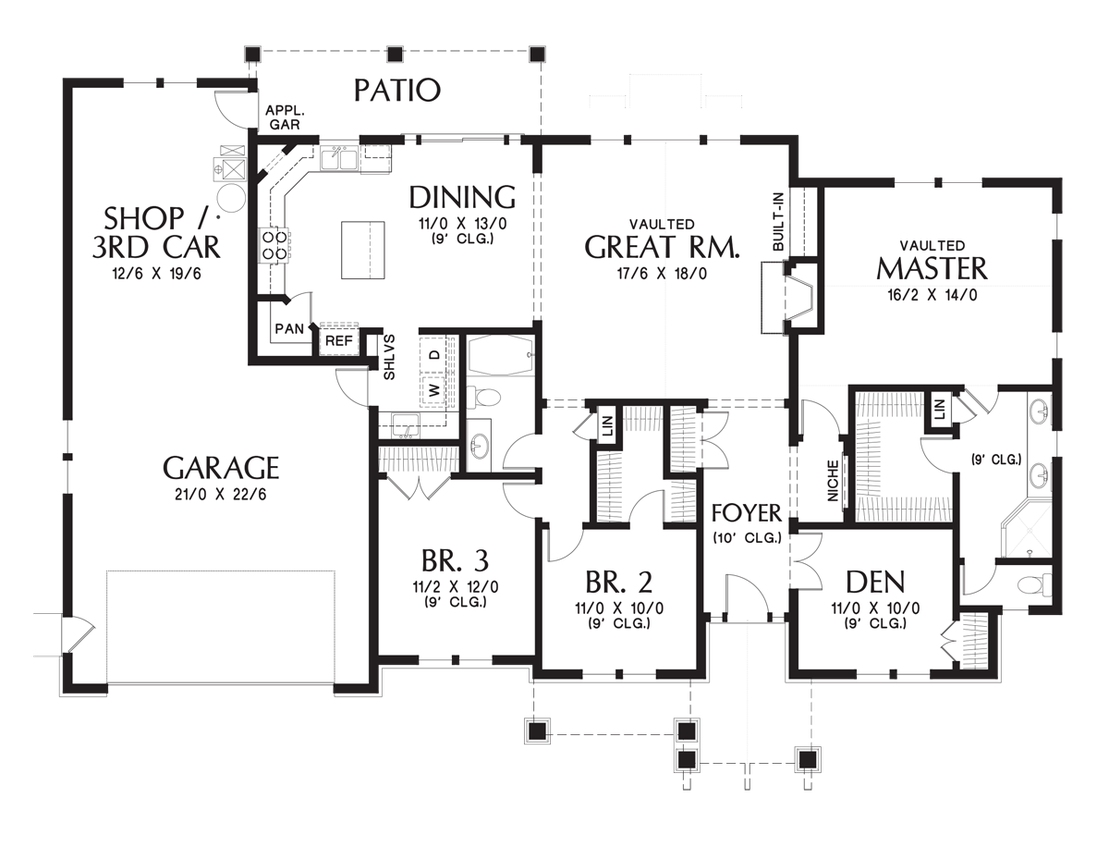 Mascord House Plan 1144eb House Plans Home And Patio