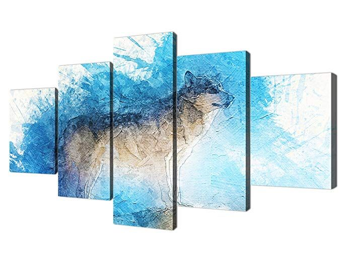 97b1f3621bd Yatsen Bridge Colorful Animal Painting On Canvas Prints and Poster Wolf  Pictures Wall Art for Living