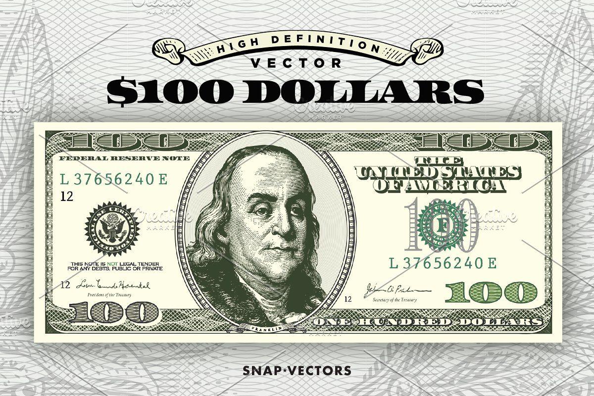 Vector Dollar Bundle Money Logo Dollar 100 Dollar