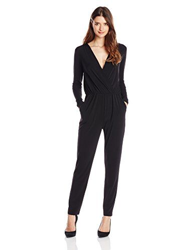 5d9ec6b9b75 BCBGeneration Womens Deep V Jumpsuit
