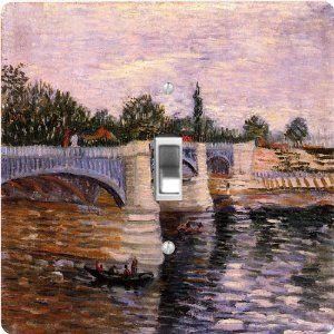 12 x 12 Rikki Knight Van Gogh Art Bridge Design Ceramic Art Tile