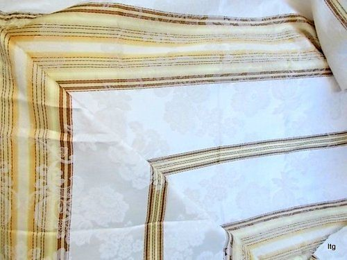 Vintage Cream Striped Damask Fabric 2 1/2 by CapeCodLaurieDesigns, $19.99