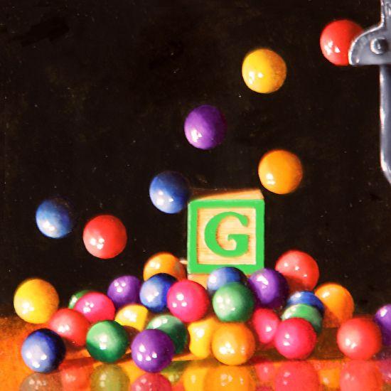 Karen Budan   OIL                                   G is for Gumballs