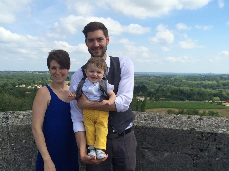 Family visit to Château de Camarsac