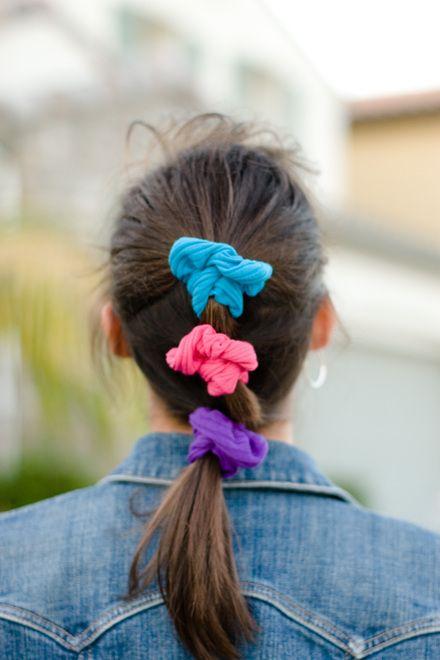90s Scrunchie Hairstyles: 80s Hair Scrunchies! Yup....I Did The Three
