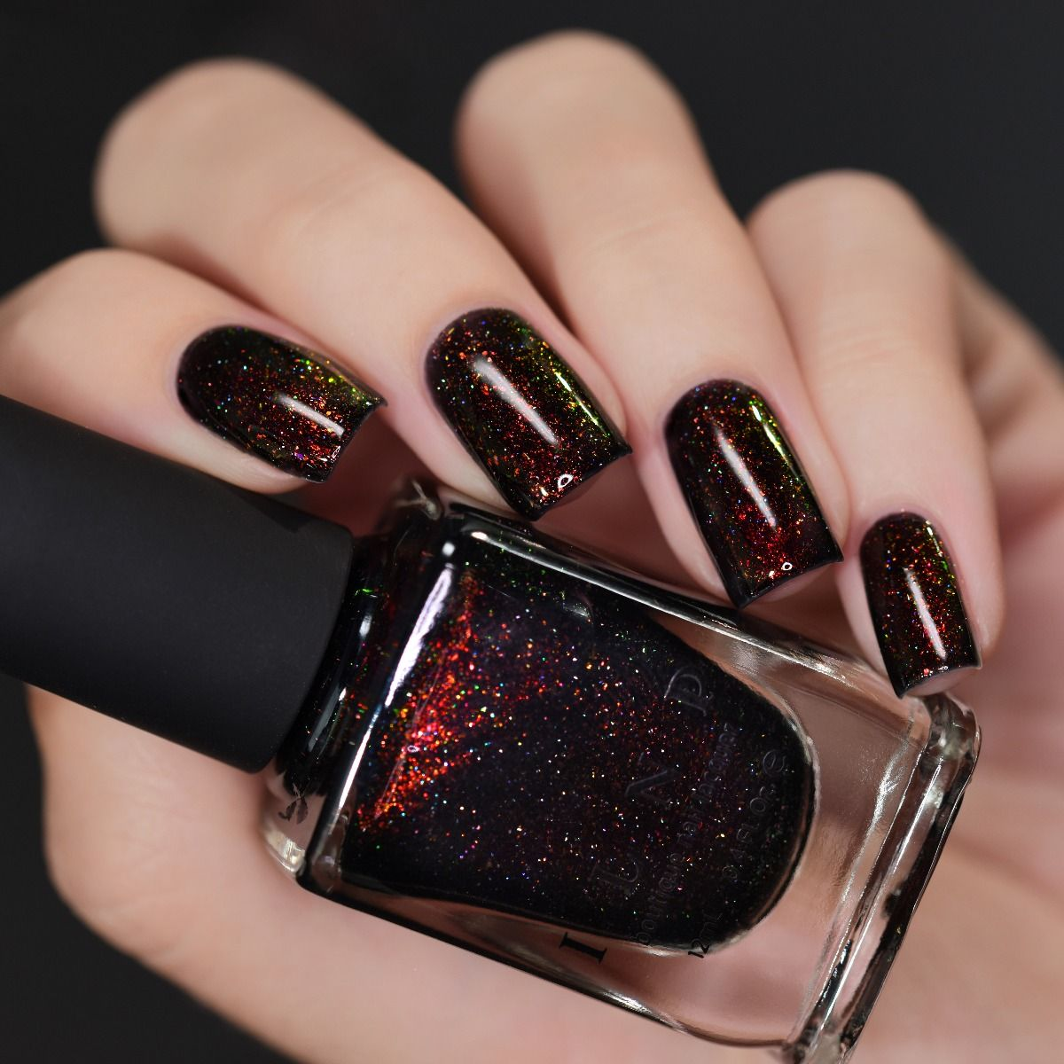 Underground – Deep Black Jelly Holographic Shimmer Nail Polish by ILNP