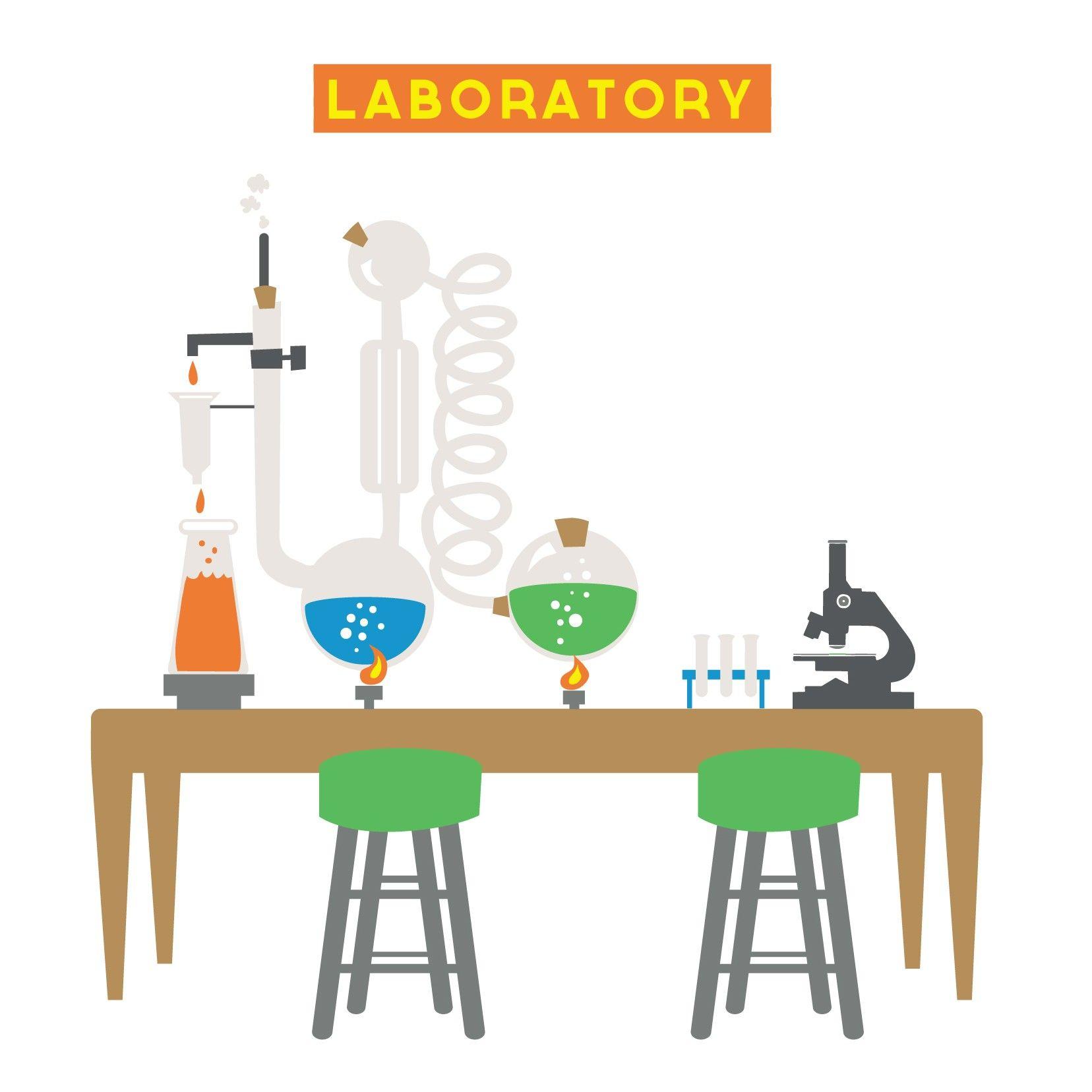 Science Laboratory Background Design: Science Backdrops For Children