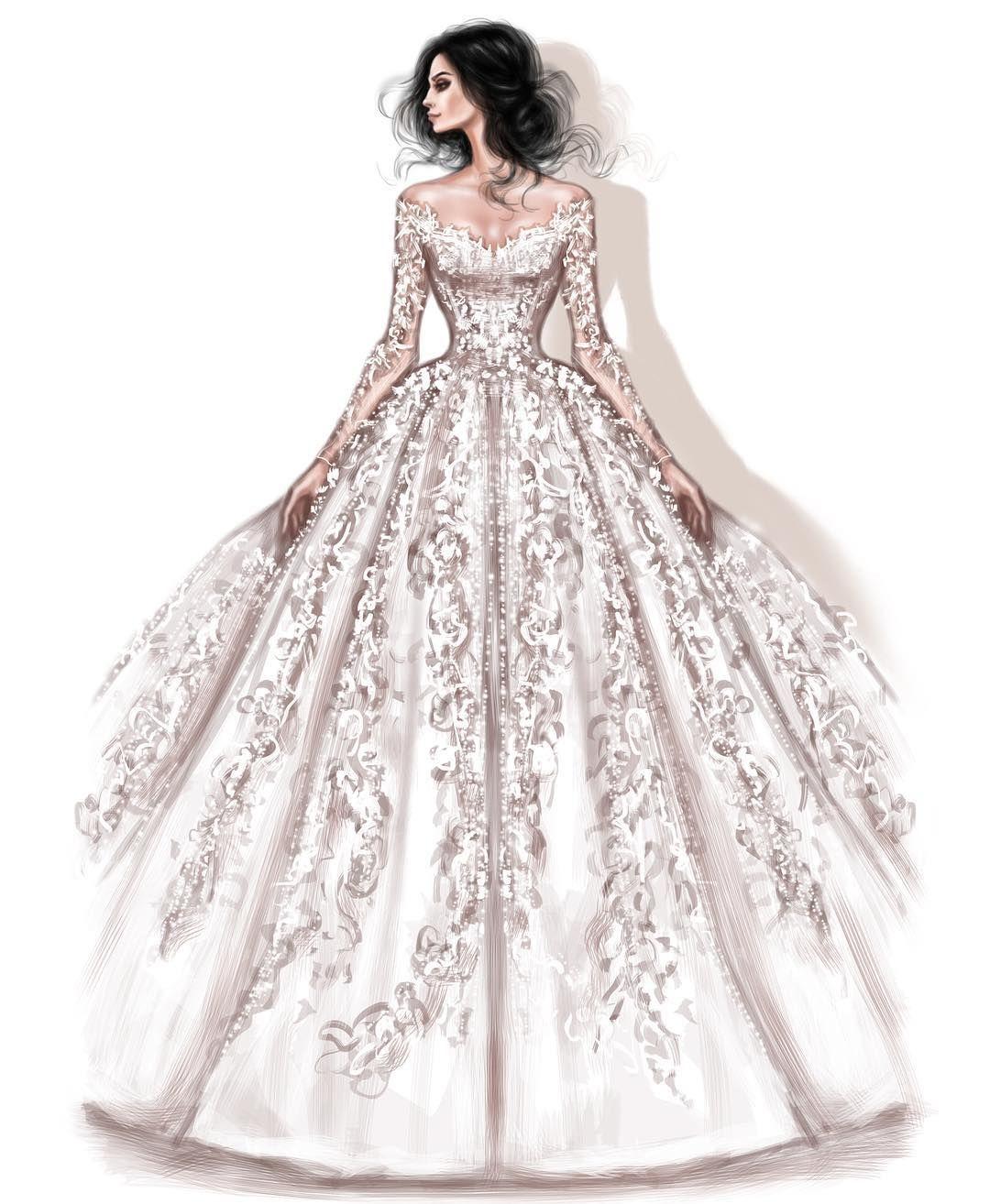 Fashion Illustration Croqui De Moda Desenho De Vestido De Noiva