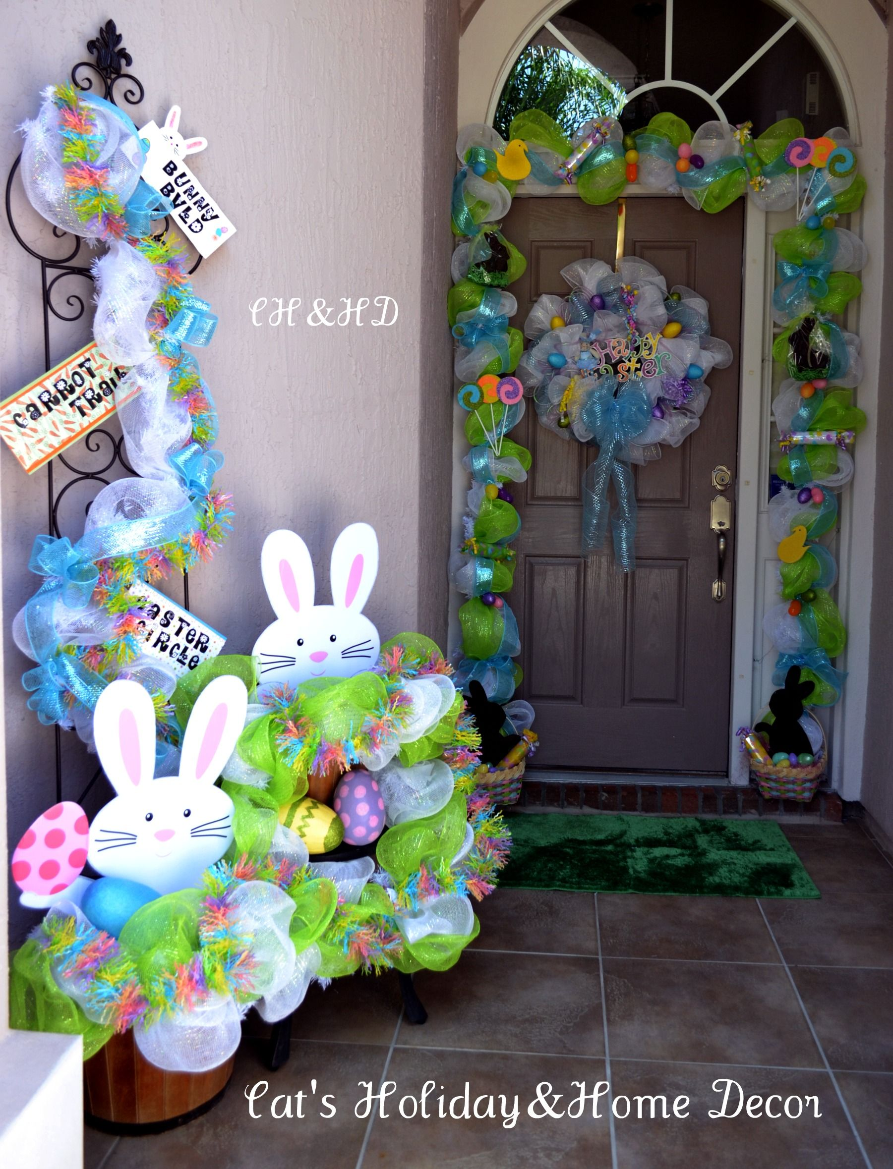 by Cheryl Foster Easter Door Decor deco school