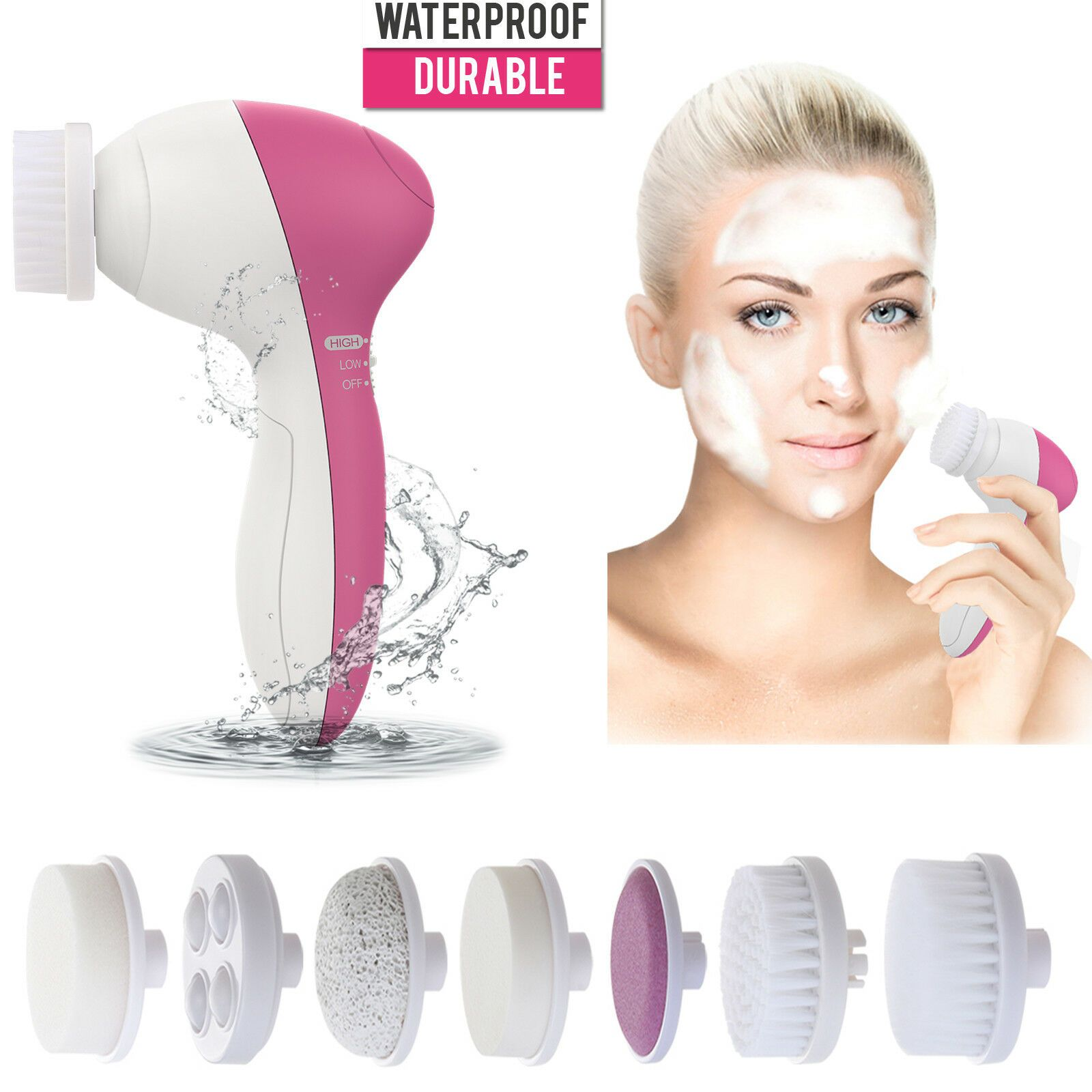 7in1 Face Cleaning Exfoliating Brush Deep Facial Cleanser