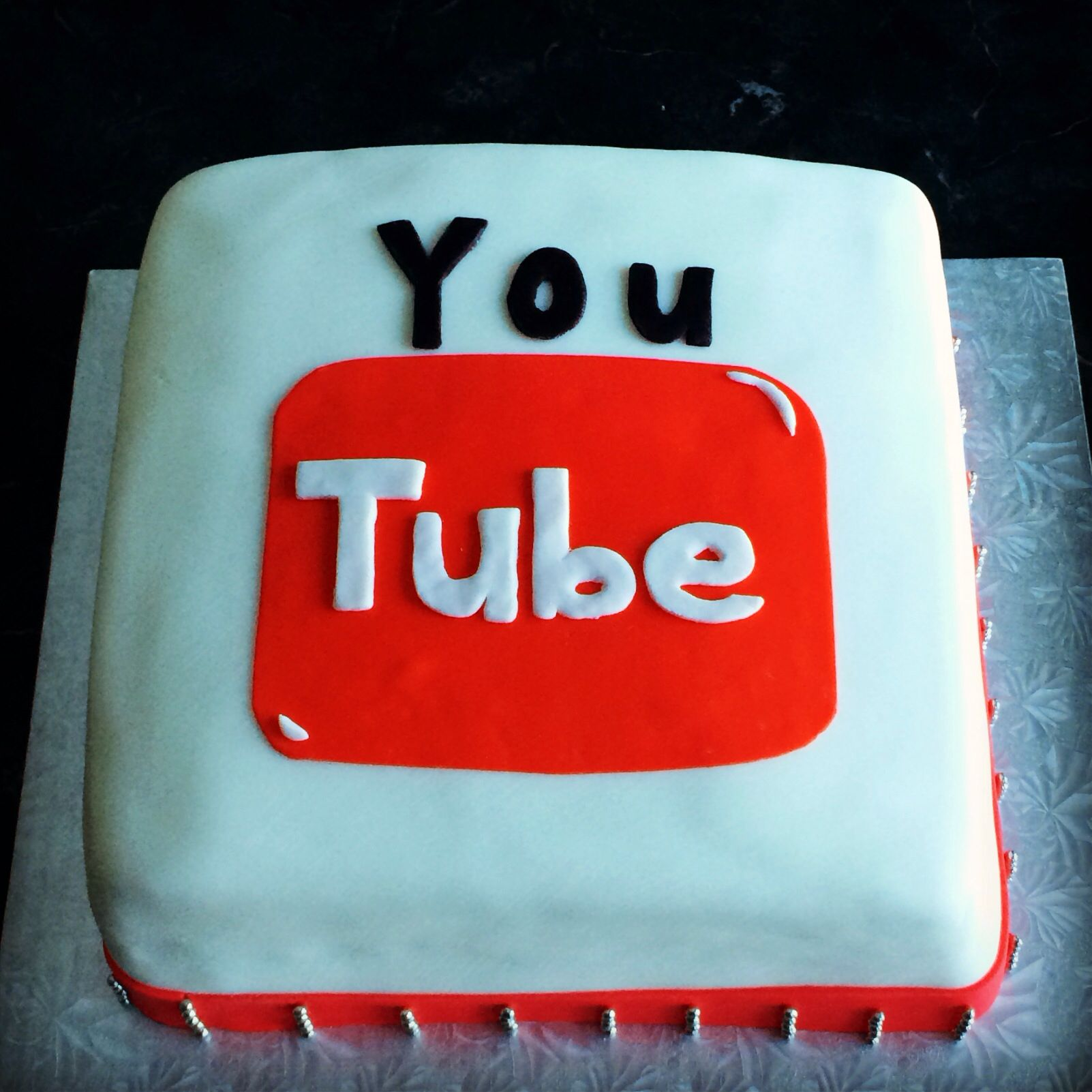 Youtube Themed Cake