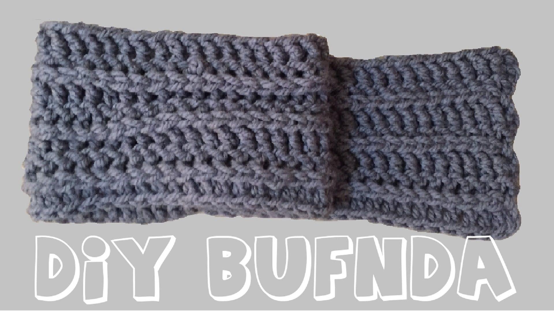 Cómo tejer bufanda de lana en crochet o ganchillo , paso a paso ...