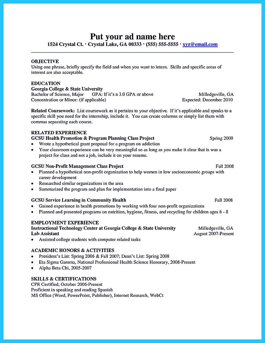 Nice Best Current College Student Resume With No Experience Check