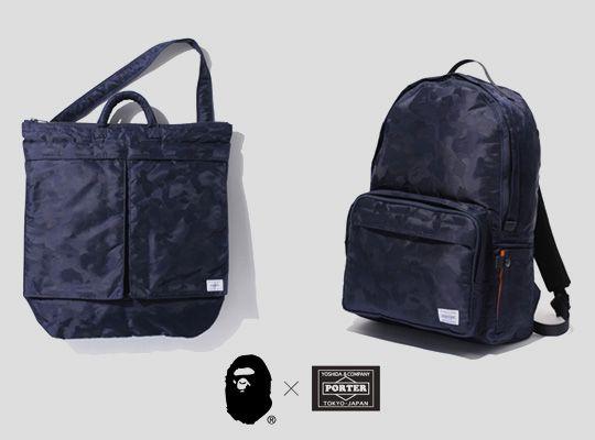 7e087dd3ca Bape x Porter Jacquard ABC Camo Bag Collection