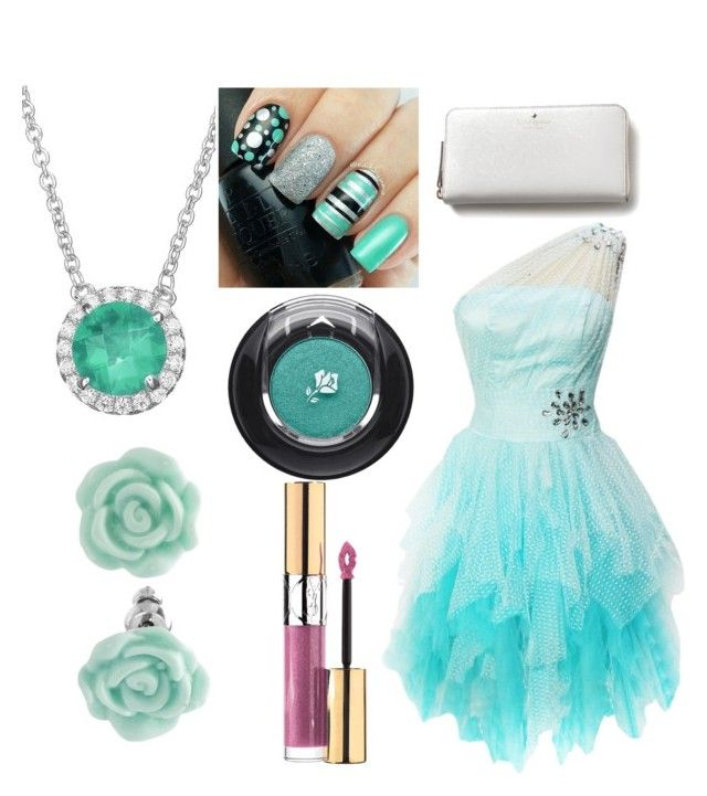 """""""Another homecoming outfit"""" by wolf-fusion on Polyvore featuring Kate Spade, Yves Saint Laurent, Lancôme, Rebecca Sloane and LC Lauren Conrad"""