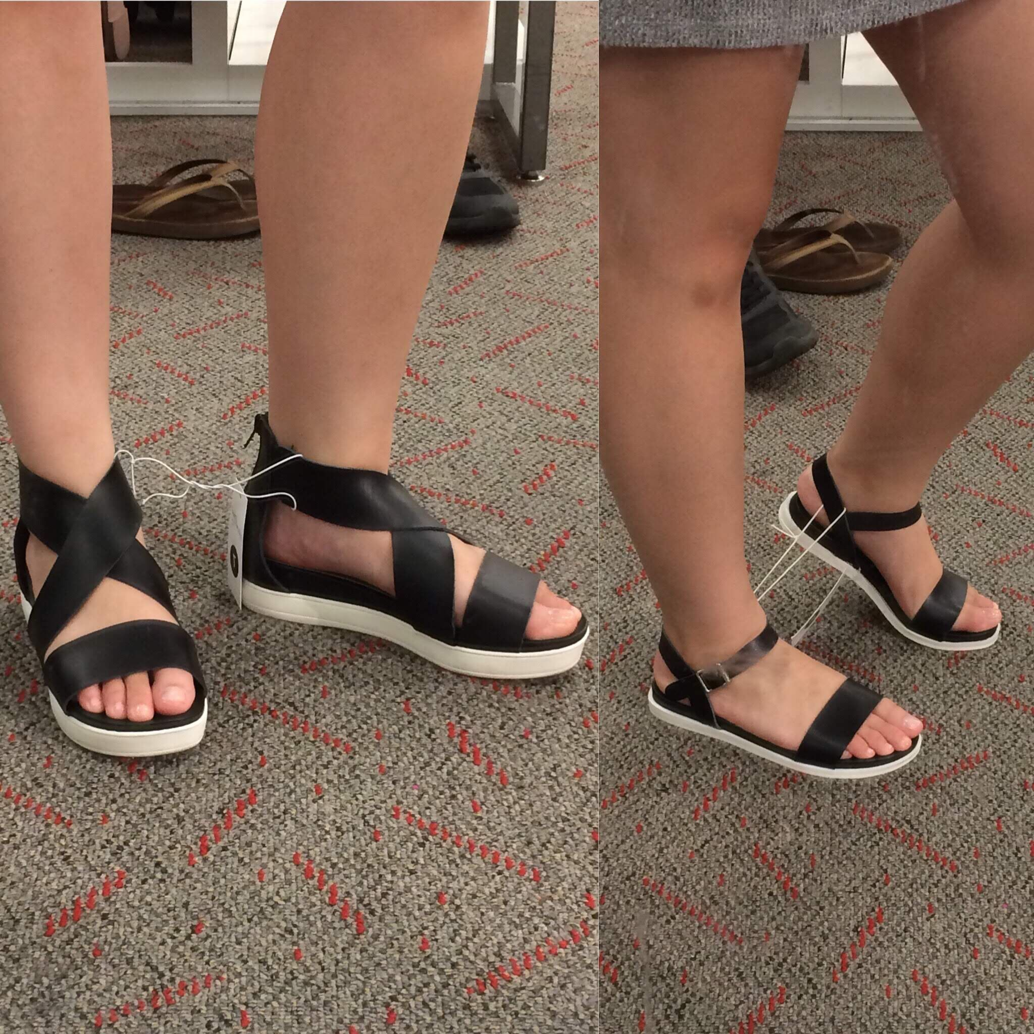 b5871e34fdc5c7 Super cute strappy sandals from Target! ☀  target  summer  shoes ...