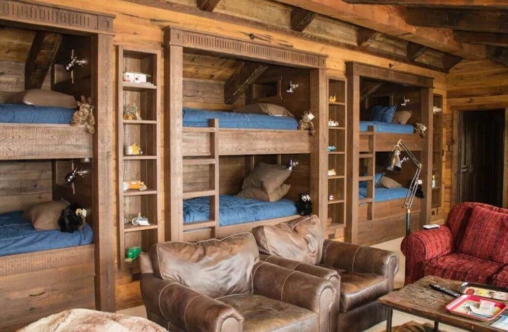 46 Good Cabin Interior Designs Bunk Beds Built In Cabin Bunk Beds Built In Bunks