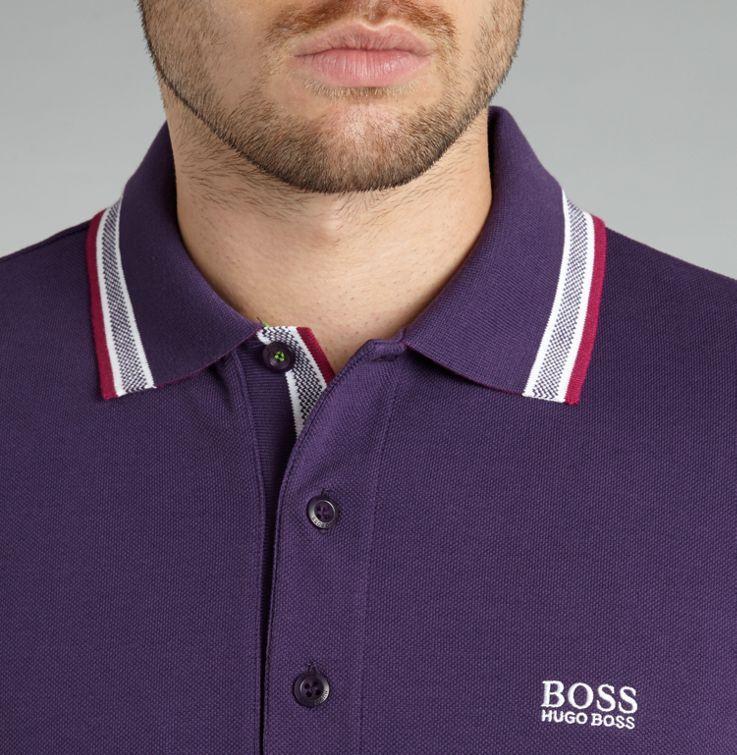 aaf9b7f03 Hugo Boss Classic logo tipped detail polo shirt Lavender - House of Fraser