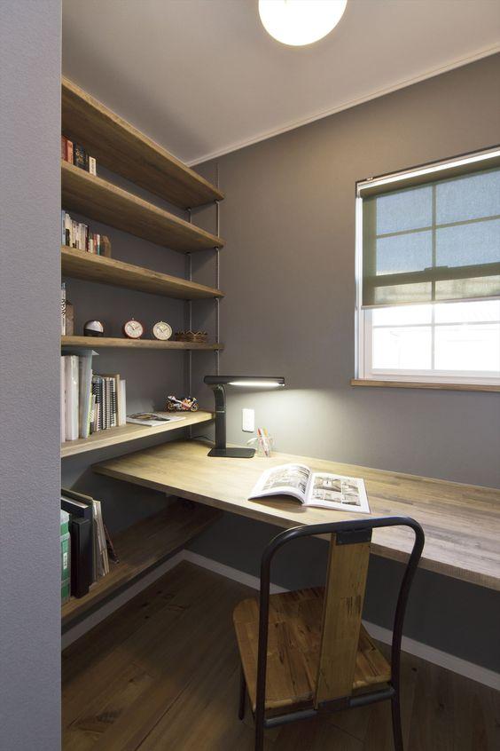 書斎は2畳あればおしゃれにできる 注文住宅を年収400万で購入するイロハ インテリア ホームライブラリ 家