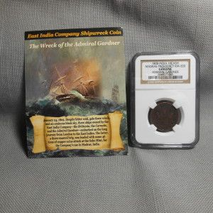 ADMIRAL GARDNER 1808 E. INDIA CO 10 CASH MADREAS PRESIDENCY Genuine SHIPWRECK Coin – NGC #2046655-060 $58.95