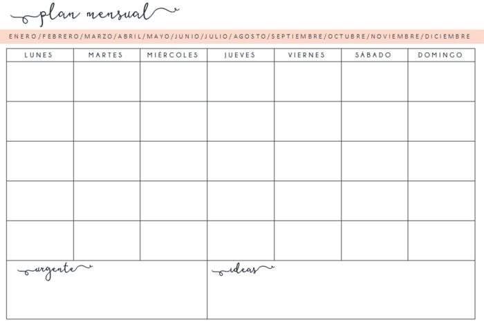 Calendario Mensual Mr Wonderful.Planificador Organizador Semanal Mensual Descargar Hacelo