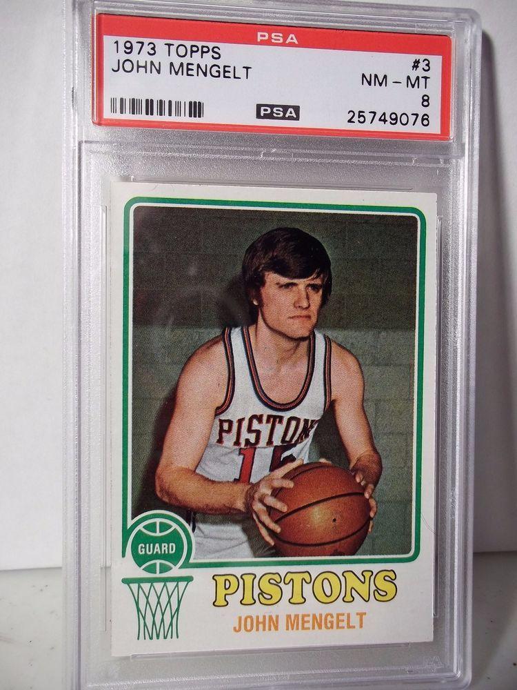 1973 Topps John Mengelt PSA NMMT 8 Basketball Card 3 NBA