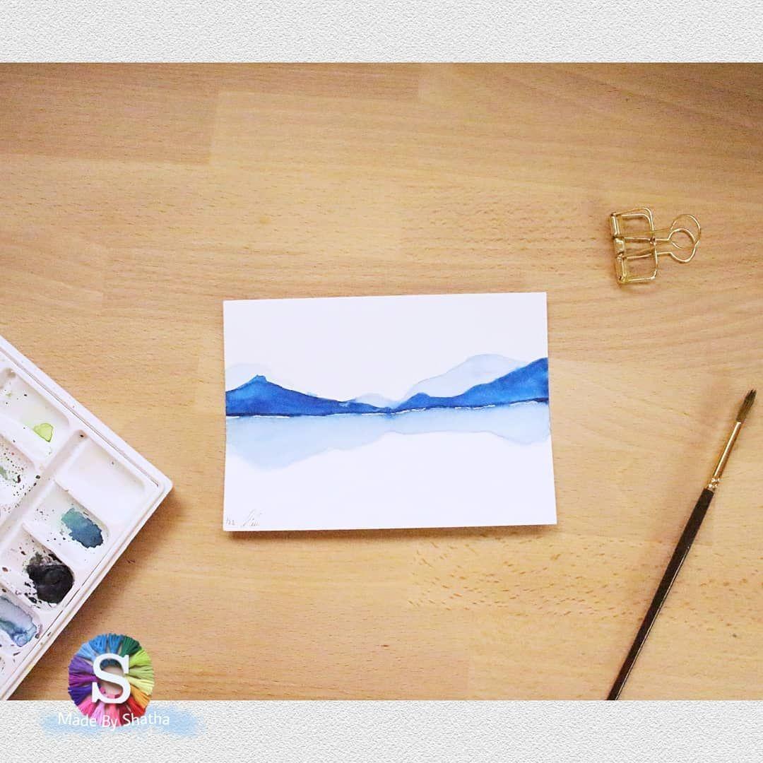 من زمان عن الرسم المائي صدق اتعب وانا اقول انه روقاااان واستمتاع مو طبيعي اخترت رسمة بسيطة تنفع لفكرتنا رقم Polaroid Film Polaroid Electronic Products