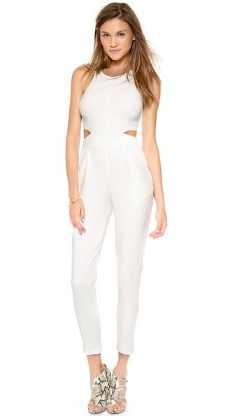 5852f827bc0e ONE by Hunter Bell Katie Jumpsuit - White