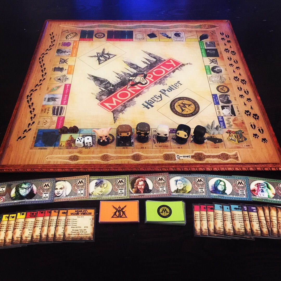 Custom harry potter monopoly game do it yourself pinterest custom harry potter monopoly game solutioingenieria Gallery
