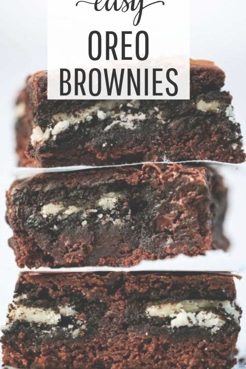 These Oreo brownies are rich, chewy and a chocolate lover's dream! Delicious layers of fudgy browni