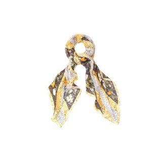 ALEXANDER MCQUEEN, Silk Fashion Scarf, Dragonfly and Petal God Save McQueen Silk Scarf