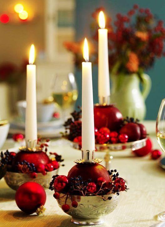 christmas dinner table decor, 2013 christmas dinner table crafts ...