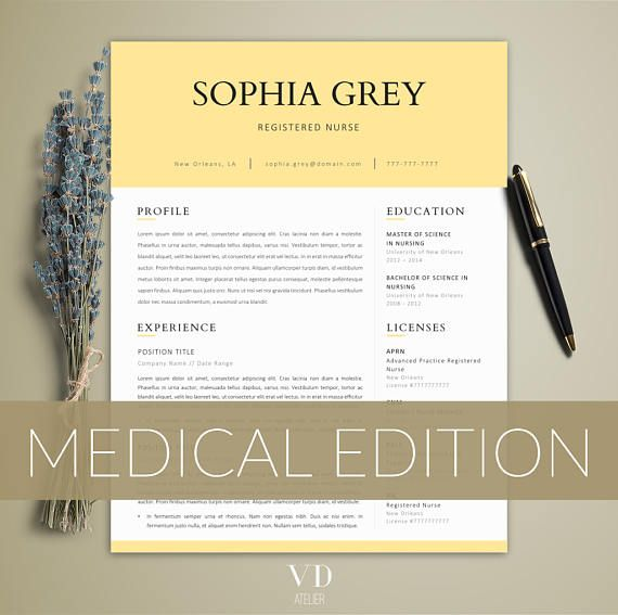 Clean and professional nurse resume template Nurse Resume - sample doctor resume