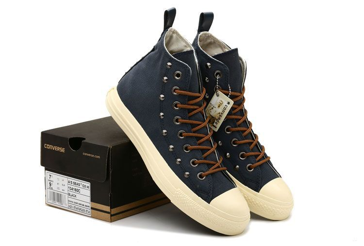 889c4aa44fde Blue Converse High Tops Elevated Studs Chuck Taylor All Star Canvas  Sneakers Online Outlet  converse