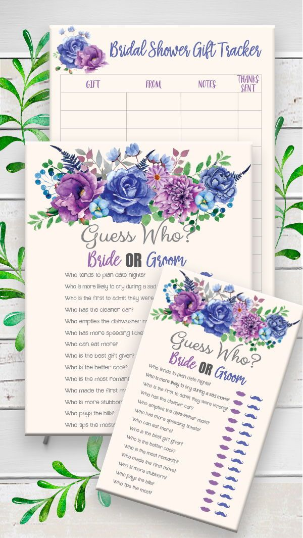 Guess Who Bridal Shower Game Floral Theme Wedding Shower Game