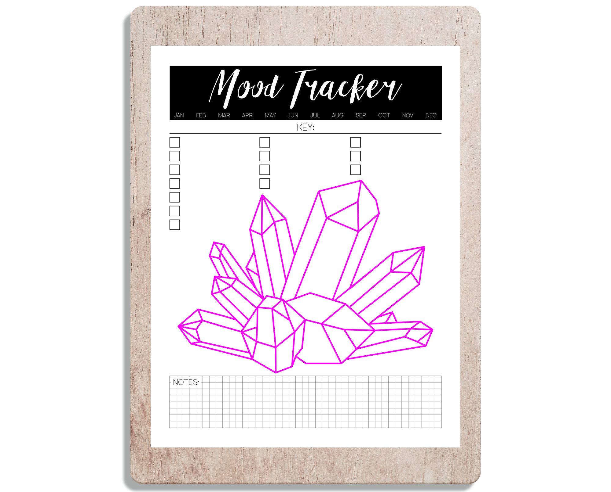 Printable Mood Tracker